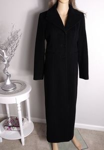 Bebe long pea coat black 90% wool cashmere winter